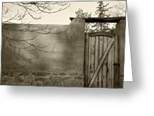 New Mexico Series - Doorway II Black And White Greeting Card