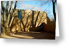 New Mexico Series - Shadows On Adobe Greeting Card
