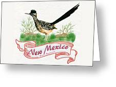 New Mexico State Bird The Greater Roadrunner Greeting Card