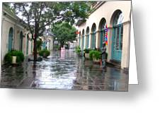 New Orleans After Rain Greeting Card