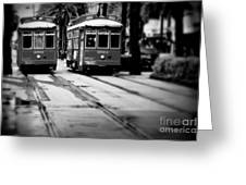 New Orleans Classic Streetcars. Greeting Card