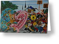 ''new Orleans Secondline'' Greeting Card