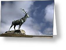 New Orleans Stag Statue Greeting Card