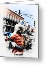 New Orleans Street Musician - Tuba Man Greeting Card
