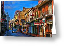 New Orleans Street Scene Greeting Card
