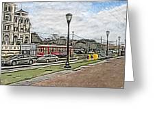 New Orleans Street Trolley Greeting Card
