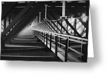 New River Gorge Bridge Catwalk Greeting Card
