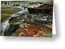 New River Waterfall Greeting Card