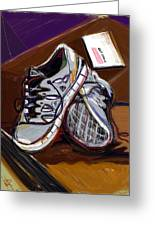 New Sneaks Greeting Card by Russell Pierce