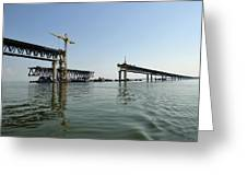 New Ulyanovsk Bridge, Russia Greeting Card