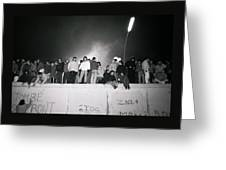 New Year At The Berlin Wall Greeting Card