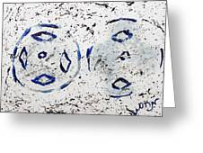 New Year Rolls Around With Abstracted Splatters In Blue Silver White Representing Snow Excitement Greeting Card