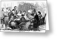 New Years Party, 1857 Greeting Card