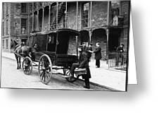 New York: Ambulance, 1895 Greeting Card