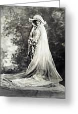 New York: Bride, 1920 Greeting Card