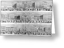 New York: Broadway, 1851 Greeting Card