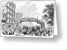 New York: Broadway, 1852 Greeting Card