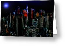 New York By Moonlight Greeting Card