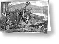 New York: Camping, 1874 Greeting Card