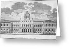 New York: City Hall, C1829 Greeting Card