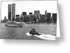 New York City Harbor Greeting Card