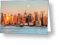 New York City Moonrise IIi Greeting Card