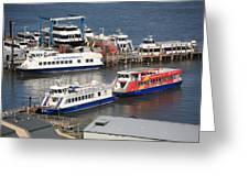 New York City Sightseeing Boats Greeting Card