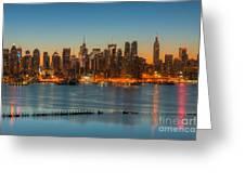 New York City Skyline Morning Twilight IIi Greeting Card