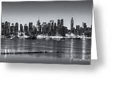 New York City Skyline Morning Twilight Iv Greeting Card