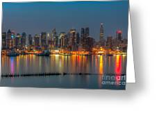 New York City Skyline Morning Twilight Xi Greeting Card