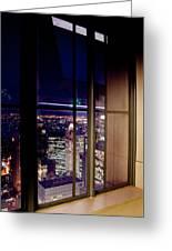 New York City Through A Window Greeting Card