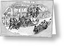 New York: Coaching, 1876 Greeting Card