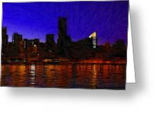 New York Colors Greeting Card