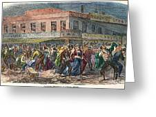 New York: Draft Riots 1863 Greeting Card