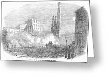 New York: Fire, 1853 Greeting Card by Granger
