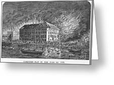 New York: Fire Of 1835 Greeting Card
