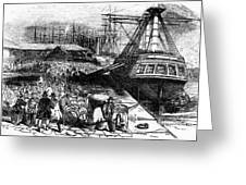 New York: Immigrants, 1854 Greeting Card