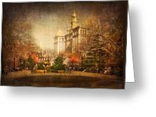 New York In April Greeting Card by Svetlana Sewell