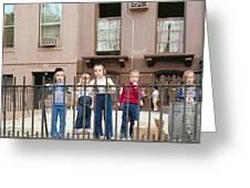 New York Kids 1975 Greeting Card