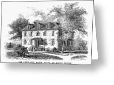 New York Mansion, 1748 Greeting Card
