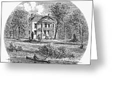 New York: Mansion, 1760 Greeting Card