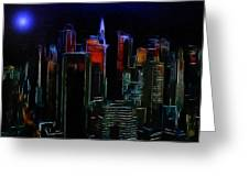 New York Midnight Greeting Card