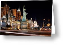 New York Ny Las Vegas Greeting Card