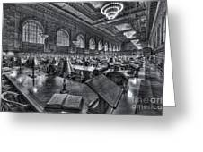 New York Public Library Main Reading Room Vi Greeting Card by Clarence Holmes