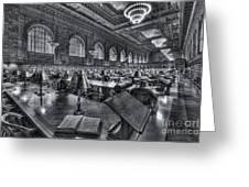 New York Public Library Main Reading Room Vi Greeting Card