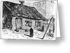 New York: Shanty, 1875 Greeting Card