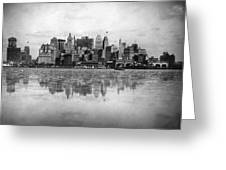New York Skyline Reflected Greeting Card