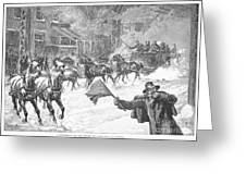 New York: Snowstorm, 1887 Greeting Card