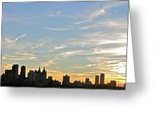 New York Sunset 2 Greeting Card