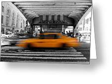 New York Taxi 1 Greeting Card
